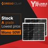 Moregosolar MS series a grade 50w solar panel price india with lowest price