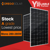 Chinese solar products panel a grade 285w 280w 250w monocrystalline solar panel price