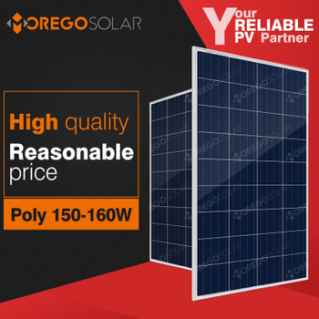 Moregosolar MG series a grade 12v 160w 155w 150w solar panel with high quality reasonable price for home use